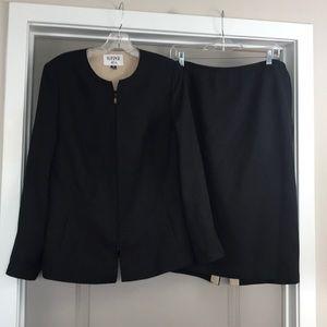 Kasper ASL black skirt suit